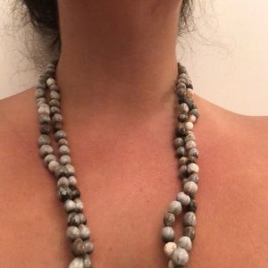 Hand crafted long necklace, versatile style